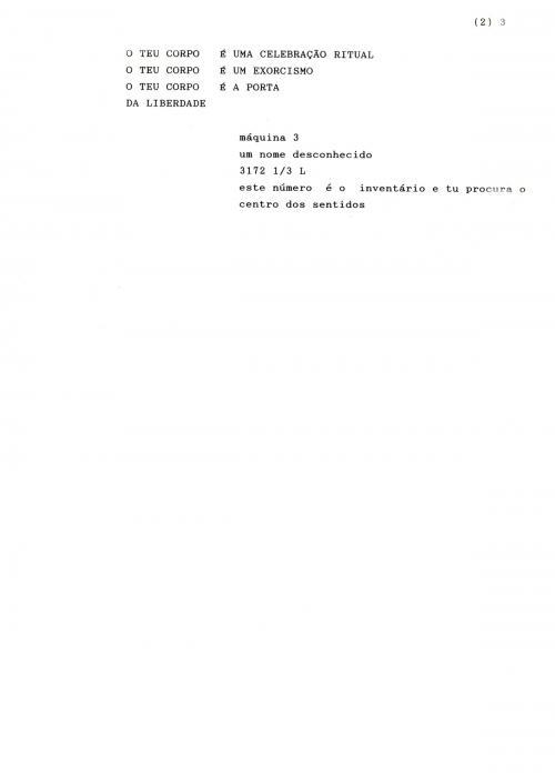 Ernesto de Sousa, Poema escolhido doLIVRO DE POEMAS INÉDITOS (1965-1975). Ernesto de Sousa, 80 páginas de textos inéditos facsimilados, papel reciclado. Copyright CEMES